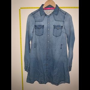 EUC Tinseltown Denim Couture Long Sleeve Dress
